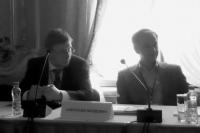 Юрий Шойдин, директор по ИТ ГК «Интарсия» и Молдовян Александр Андреевич, заместитель директора СПИИРАН по информационной безопасности